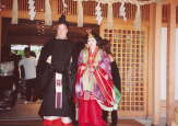 Miwako and Matthew in Traditional Dress